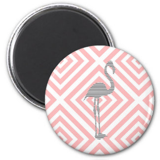 Flamingo - abstract geometric pattern - pink. magnet