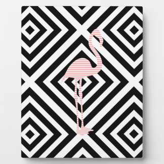 Flamingo - abstract geometric pattern - pink. plaque