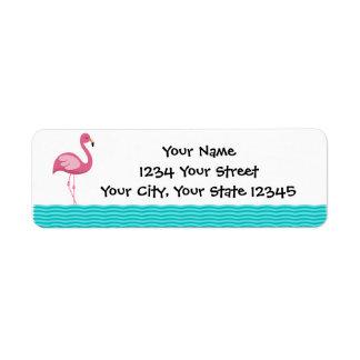 Flamingo Address Label