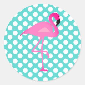 Flamingo and Polka Dot Stickers