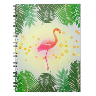 Flamingo and Tropical Leaves * Summer Time Madness Notebooks