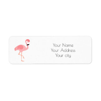 flamingo art return address label