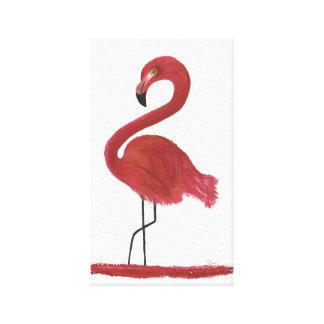 Flamingo Artwork Canvas Print