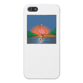 Flamingo At Sunset iPhone 5/5S Cases