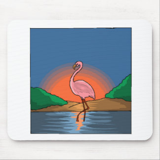 Flamingo At Sunset Mouse Pad