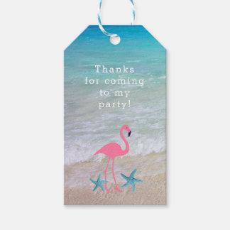 Flamingo Beach Party Custom Favor Tags