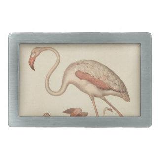 Flamingo bingo rectangular belt buckle