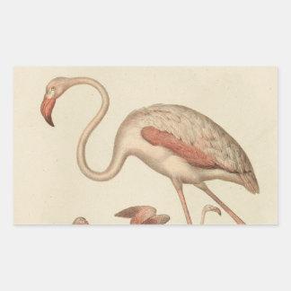 Flamingo bingo rectangular sticker