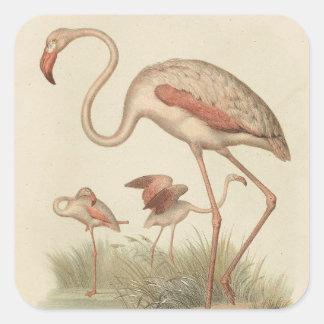 Flamingo bingo square sticker