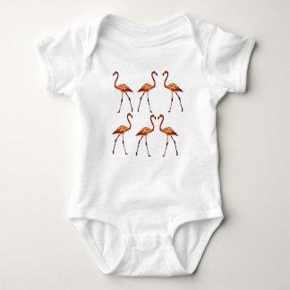Flamingo Bird Baby Jersey Bodysuit
