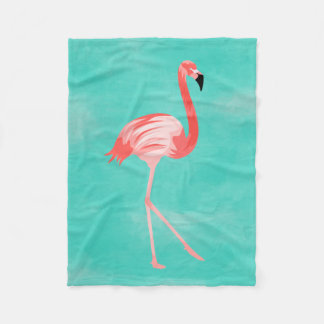 Flamingo Bird Fleece Blanket