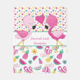 Flamingo blanket - Personalized