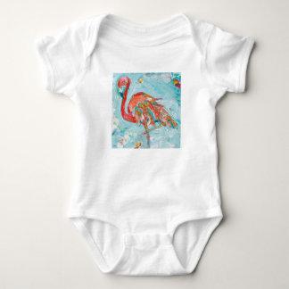 Flamingo Bright Baby Bodysuit