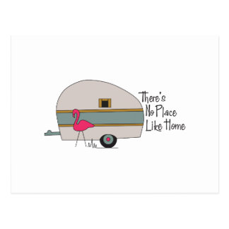 Flamingo Camper Postcard