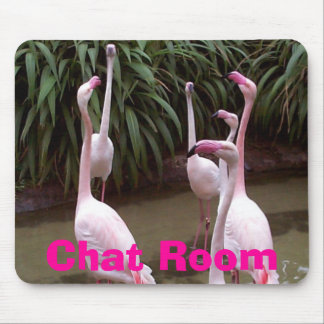 Flamingo Chat Room Mouse Pad