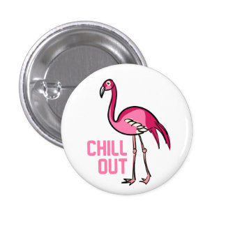 Flamingo Chill Out 3 Cm Round Badge