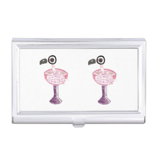 Flamingo Cocktail Business Card Holder