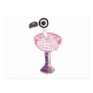 Flamingo Cocktail Postcard