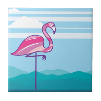 Flamingo Design Ceramic Tile