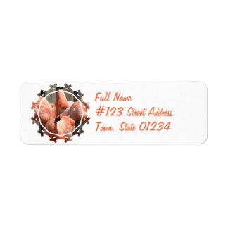Flamingo Design Return Address Label