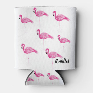 Flamingo drink can cooler