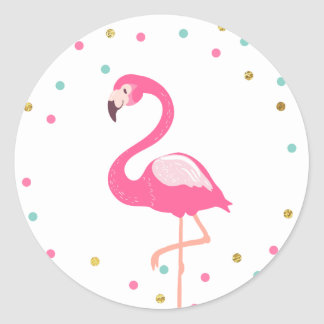 Flamingo Envelope seal sticker Tropical Label