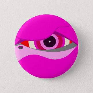 flamingo eye2 6 cm round badge