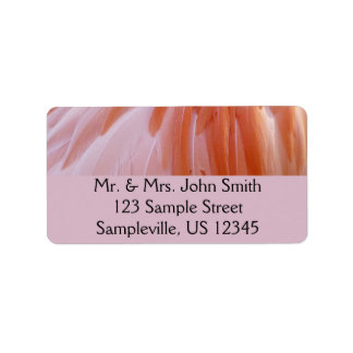 Flamingo Feathers Pink Abstract Nature Label