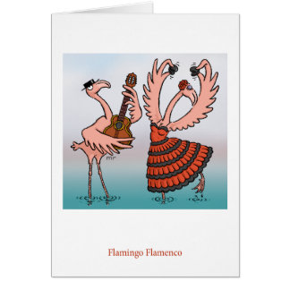 Flamingo Flamenco Card