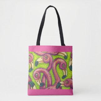 Flamingo Fling Colorful TOTE BAG