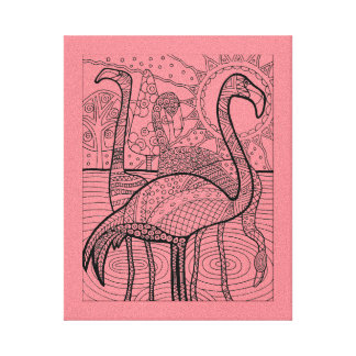 Flamingo Flock Canvas Print
