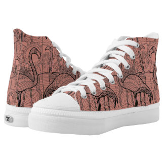 Flamingo Flock High Tops