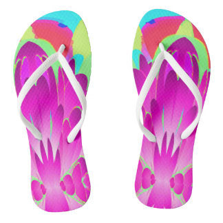 Flamingo Floral Rainforest Flip Flops
