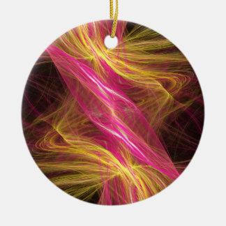 Flamingo Fractal Christmas Tree Ornaments