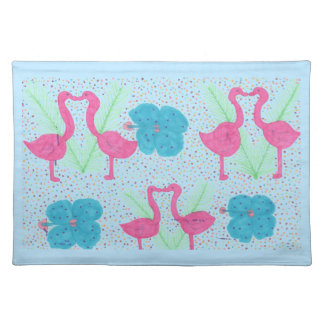 Flamingo Fun Tropical Pattern Placemat