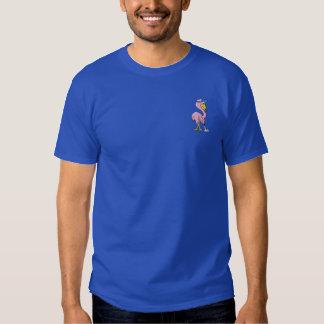 Flamingo Golfer Embroidered T-Shirt