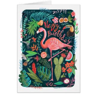 Flamingo Happy Birthday | Greeting Card