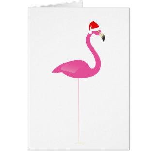Flamingo Holiday Folded Card