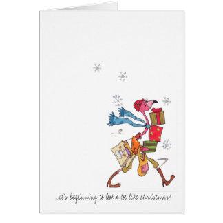 Flamingo Holiday shopping Card