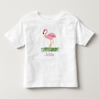 Flamingo In The Grass Personalised Toddler T-Shirt