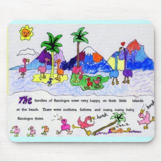 Flamingo Island Mouse Pad