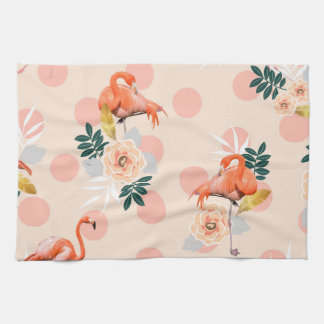 Flamingo Jazz Tea Towel