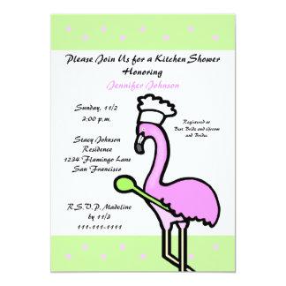 Flamingo Kitchen Bridal Shower Invitation