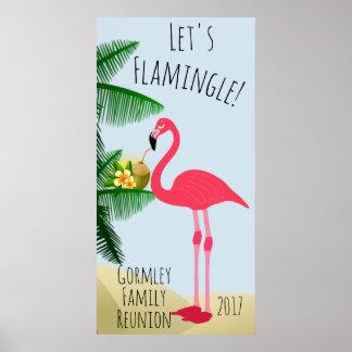 Flamingo Let's Flamingle Family Reunion Poster