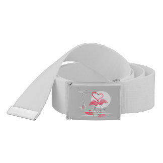 Flamingo Love belt grey