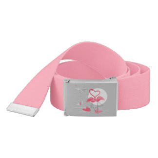 Flamingo Love belt pink