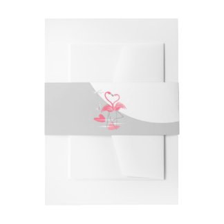 Flamingo Love Large Moon belly band portrait Invitation Belly Band
