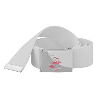 Flamingo Love Large Moon belt grey