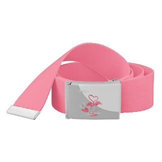 Flamingo Love Large Moon belt hot pink