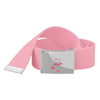 Flamingo Love Large Moon belt pink